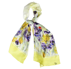 Flora Long Silk Scarf