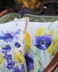 Flora Bees Cotton Sateen Cushion