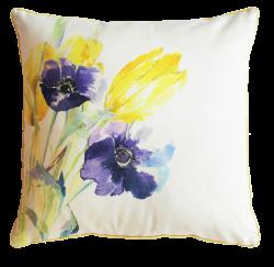 Flora Flowers Silk Cushion