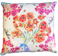 Poppies Silk Cushion